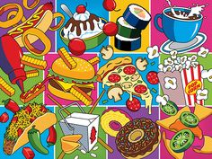 Food Essentials by Ron Magnes #popart