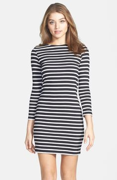 Stripe Cotton Body-Con Dress - love me some stripes! / French Connection