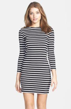 Stripe Cotton Body-Con Dress - love me some stripes! / French Connection