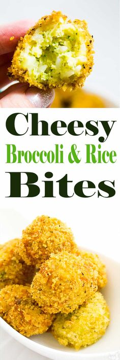 Cheesy Broccoli and Rice Bites | homemadeforelle.com