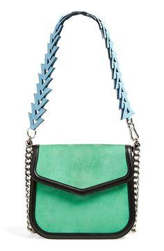 LOEWE 'V' Suede Shoulder Bag