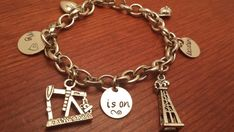Hand stamped oilfield charm bracelet My by ByalittlebitofFaith