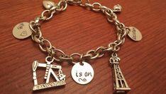Hand stamped oilfield charm bracelet My by ByalittlebitofFaith
