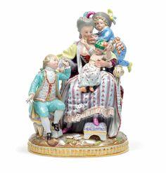 """""""Die gute Mutter"""", sie sitzt auf einem barocken Stuhl da Snow Globes, Auction, Antiques, Decor, Baroque, Chair, Figurines, Kids, Antiquities"""