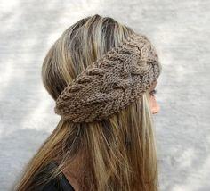 Hand Knit Headband, Winter Headband, Ear Warmer, Button, Cable Knit Headband for… – Knitting world Knit Headband Pattern, Knitted Headband, Knitted Hats, Knitting Blogs, Hand Knitting, Knitting Patterns, Beginner Knitting, Winter Headbands, Headbands For Women