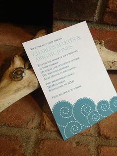 Spring Summer Waves Wedding Invitation DIY by FiraPrintables
