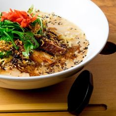 These Calgary restaurants serve piping hot bowls of comfort food. Calgary Restaurants, Japchae, Wine Recipes, Bowls, Soup, Dining, Ethnic Recipes, Travel, Serving Bowls