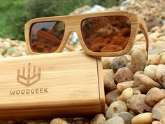 wooden sunglasses- Product Spotlight- The Biker Brown Bamboo Sunglass. Handcrafted bamboo sunglasses for that perfect biker look. The light weight frame is made from bamboo and the brown colour retains the natural look of wood. Stay cool, stay natural.