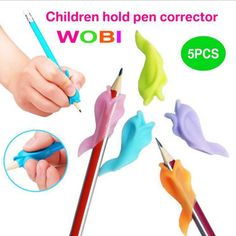 5pcs Learning Partner Children Students Stationery Pencil Holding Practise Device for Correcting Pen Postures Grip