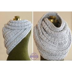 Huntress Cowl Hand Knit Cowl Infinity Scarf Knit von BoPeepsBonnets
