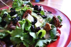 Vegan Pear and Candied Pecan Salad - Door to Door Organics