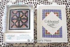 Celebration of America Quilts Amish Railroad Crossing Tile Ornament Rare New Box