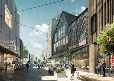 Kiruna – Relocating an entire Swedish city   White Arkitekter #2014-2100 #move #city #sweden #landscape #urban #design #render #perspective