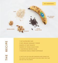 BANANA OATMEAL COOKIES - sub craisins for cocoa chips, add an egg white and extra oats and a pinch of salt