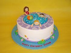 Pool Party Cake by CakesUniqueByAmy.com, via Flickr
