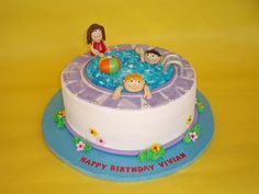 Pool Party Cake by CakesUniqueByAmy.com, via Flickr