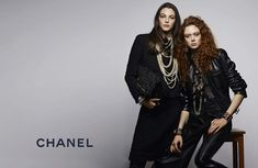 Natalie Westling and Vittoria Ceretti for Chanel Pre-Fall 2017 Ad Campaign shot by Karl Lagerfeld
