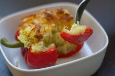 Growing up, stuffed bell peppers were a staple. But I admit, I am not a big fan of rice (the way my mother makes them). So I am always looking for different ways to stuff a bell pepper, such as with Israeli Couscous. Enjoy these