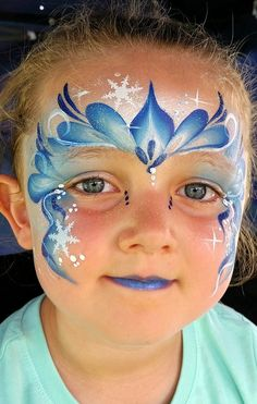 30 ideas for handicrafts with children for carnival - face makeup carnival face painting make-up tips carnival - Girl Face Painting, Belly Painting, Face Painting Tutorials, Face Painting Designs, Bodysuit Tattoos, Frozen Face Paint, Cool Face Paint, Christmas Face Painting, 3d Chalk Art