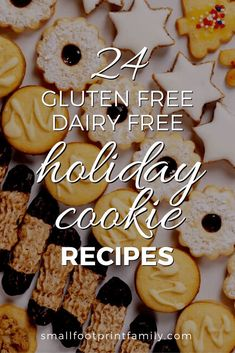 These 24 delicious, dairy free, grain free holiday cookie recipes that are so darned yummy, no one will know they're allergy friendly, too! #paleo #paleodiet #glutenfree #dairyfree #vegan #vegetarian #recipe #grainfree #realfood #dessert #cookies #holidays #christmas #chanukah #holidayrecipe