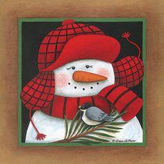 Frosty Jack ~ Fine-Art Print - Christmas Snowmen Art Prints and Posters - Christmas Pictures Christmas Signs, Christmas Pictures, Christmas Snowman, All Things Christmas, Winter Christmas, Christmas Crafts, Christmas Ornaments, Snowmen Pictures, Decoupage