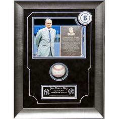 Joe Torre Signed White Sox at Yankees 8-23-2014 Game Used Baseball Framed 14x20 Torre Day Collage (MLB Auth)  - Baseball Hall of Famer Joe Torre has hand-signed this game-used baseball from August 23rd 2014 Joe Torre Day which was a game against the Chicago White Sox and it comes in a framed 14x20 Joe Torre Day Collage-Joe Torre is a legendary MLB manager and former player. Torre started his managing days in 1977 including stints with the Mets Braves and Cardinals before taking the helm of…