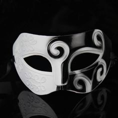 Black&White Roman Greek Mens Venetian Halloween Costume Party Masquerade Mask