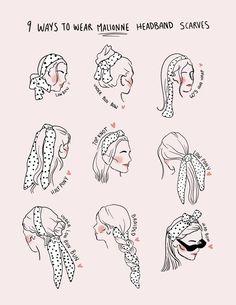 Scarf Hairstyles, Pretty Hairstyles, Silk Head Wrap, Fall In Line, Chloe Fashion, Audrey Tautou, Hair Inspo, Hair Inspiration, Hair Secrets