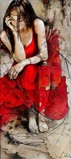 Hello Ladies.  Tonight and tomorrow lets pin all pretty RED ART.  Thank you ....Lidia Wylangowska