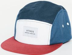 Captain America 5-Panel Hat by AFENDS Five Panel Hat, Cycling Hat, Skater Style, Sporty Chic, Cool Hats, Mens Caps, White Outfits, Dad Hats, Hats For Men