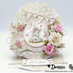 Magnolia Sunbeam Bunny Easel Card | By Donna