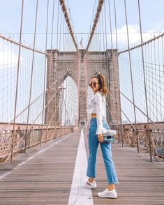 look in our 'Can't Get Enough Top- White Polka Dot'. Shop it now via NYC New York City Pictures, New York Photos, Brooklyn Bridge Pictures, Brooklyn Bridge Park, New York Outfits, City Outfits, Nyc Subway, New York Fashion, City Fashion