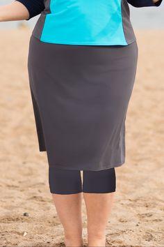 29f2a153fc3 Undercover Waterwear Plus Size Long Swim Skirt with lLggings  #plussizeswimwear #plussizeswimskirt #plussizelongswimskirt #