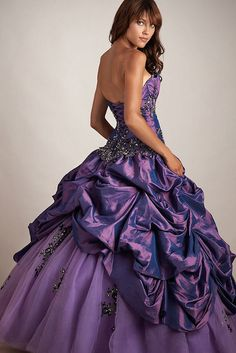 Plum Purple Ballgown with Full Tulle and Taffeta Skirt with Full Built In Petticoat by Sabrina Satin1, via Flickr