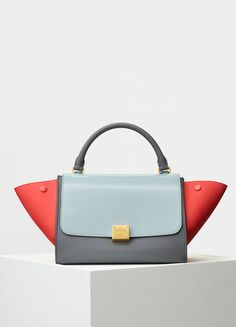 Small Trapeze Handbag in Multicolor Baby Grained Calfskin - セリーヌについて