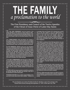 The Family Proclamation Free Printable- 3 colors