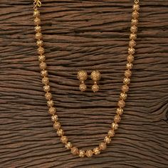 Your place to buy and sell all things handmade - Gold Matar Mala/ Indian Necklace/ Indian Long Necklace/ Long Gold Necklace/ Indian Jewelry/ Indian - Gold Chain Design, Gold Bangles Design, Gold Earrings Designs, Gold Jewellery Design, Necklace Designs, Indian Necklace, Indian Jewelry, Gold Necklace, Gold Mangalsutra Designs