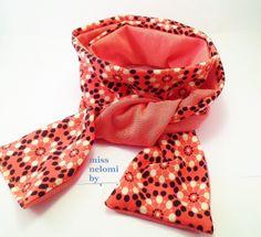 schmaler Schal,Jersey,rosa,Retro,Blumen von miss nelomi auf DaWanda.com