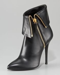 Fold-Over Zip Ankle Boot. Boot up: Giuseppe Zanotti brings some instant edge to your look with this motorcycle-inspired zip ankle boot. #NMFallTrends