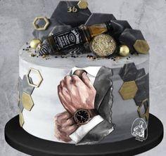 Cake Decorating Techniques, Cake Decorating Tips, Fondant Cakes, Cupcake Cakes, Liquor Cake, Extreme Cakes, Birthday Cake For Him, Elegant Birthday Cakes, Cookie Recipes For Kids