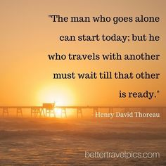 """""""The man who goes alone can start today; but he who travels with another must wait till that other is ready."""" Tag a friend who has #wanderlust. Want to take Better Travel Pics? Register NOW at http://ift.tt/1pe1GGR or click on the link in our bio for our FREE eBook on how to take better travel pics on your next holiday. Get your free eBook and cheat sheets today.  Photo by @johnlechnerart  #travelpics #travel"""