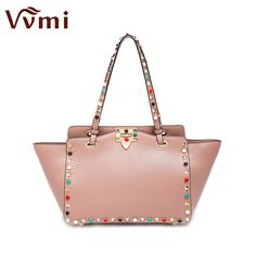 Good price Vvmi women bag single shoulder colorful rivet handbags female famous brands luxury designers handbags new fashion star just only $86.66 with free shipping worldwide #womantophandlebags Plese click on picture to see our special price for you