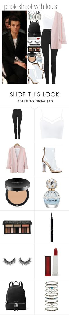 """""""photo shoot with louis"""" by fatima-styles102 ❤ liked on Polyvore featuring Topshop, Charlotte Russe, Bare Escentuals, Marc Jacobs, Kat Von D, Givenchy, Maybelline, MICHAEL Michael Kors, Accessorize and plus size clothing"""