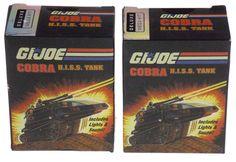 Lot of 2 GI Joe Cobra HISS Toy Tank Deluxe Mega Mini Kit Lights Sounds Book
