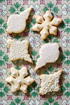 5-Ingredient Sugar Cookies - Festive Christmas Cookie Recipes - Southernliving. Recipe: 5-Ingredient Sugar Cookies  When glazing, use a shallow bowl that will accommodate the entire cookie.