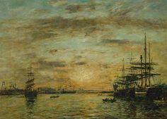 Eugène Boudin, Le Havre, le bassin de l'Eure, 1885
