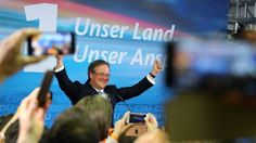 Armin Laschet, top candidate of the Christian Democratic Union (CDU) reacts on first exit polls after the regional state elections of North Rhine-Westphalia, in Duesseldorf, Germany, May 14, 2017.