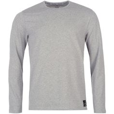 Calvin Klein Sleep Long Sleeve T Shirt ($47) ❤ liked on Polyvore featuring men's fashion, men's clothing, men's shirts, men's t-shirts, mens longsleeve shirts, calvin klein mens shirts, mens long sleeve t shirts, mens long sleeve shirts and calvin klein mens t shirts