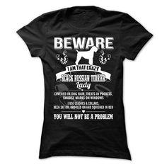 BEWARE IAM THAT BLACK RUSSIAN TERRIER LADY - #jean shirt #hoodie schnittmuster. MORE ITEMS => https://www.sunfrog.com/Pets/BEWARE-IAM-THAT-BLACK-RUSSIAN-TERRIER-LADY-Ladies.html?68278
