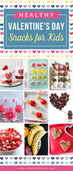 Healthy Valentines Day Snack Ideas for Kids   Easy and cute Valentines food ideas to make for lunch boxes or a school party - includes lots of sprinkles and fruit kabobs!